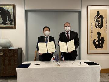The French Embassy in Korea and KISED sign a cooperation agreement