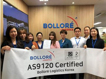 Bolloré Logistics, the First AS9120 Certified Freight Forwarder in Korea