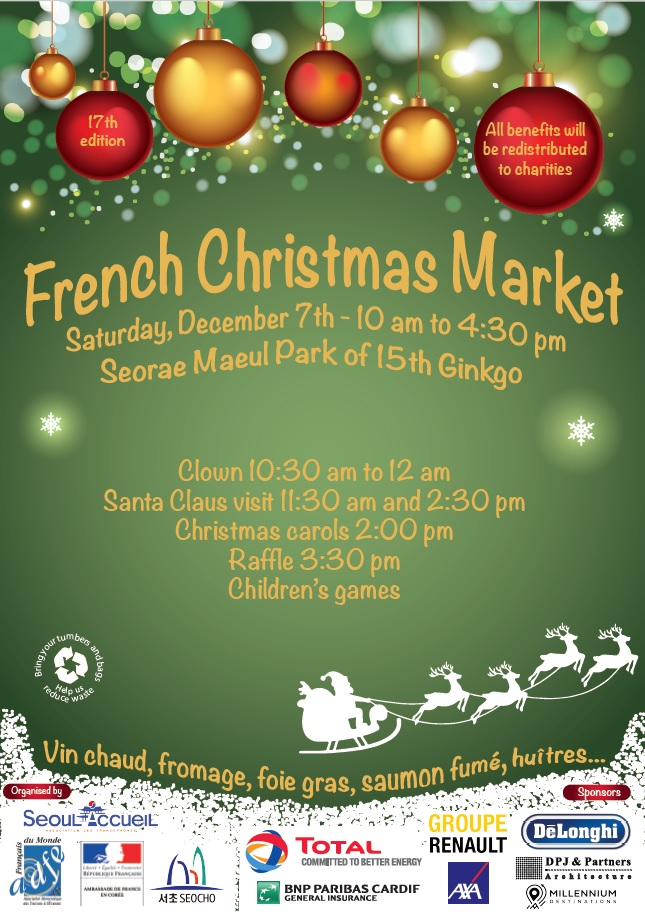 French Christmas Market in Seoul at Seorae Maeul